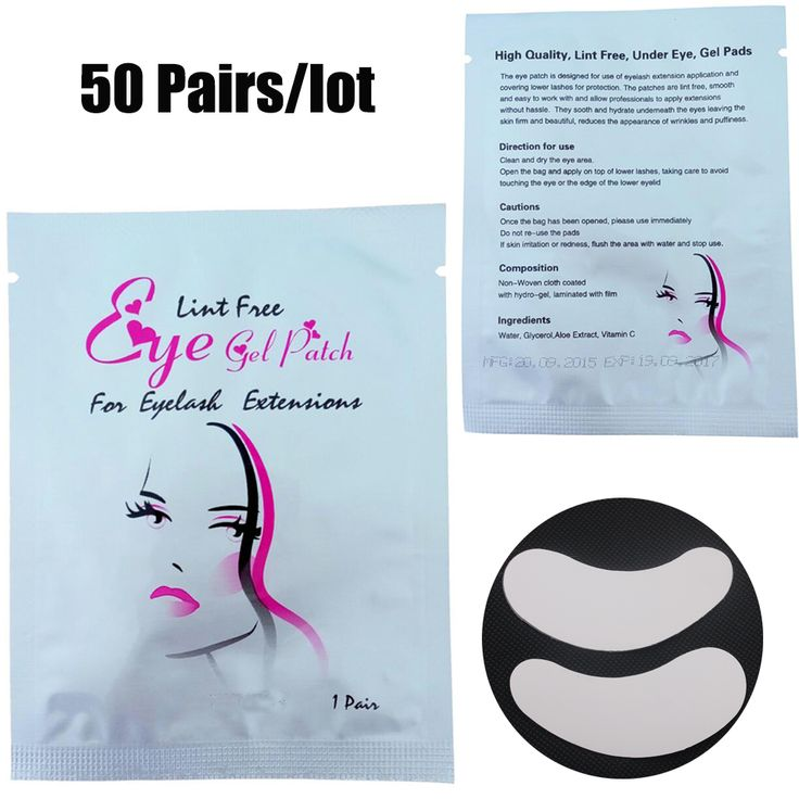 50Pairs/Lot Eyelash Extension Paper Patches Under The Eyelash Eye Pad Application Make up Tools With Free shipping