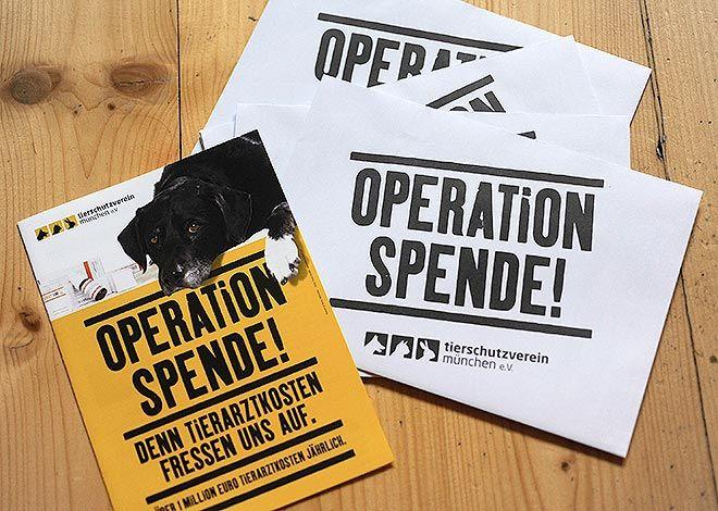 Spendenaufruf durch Postwurfsendung