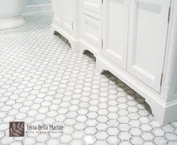 Looking for a tile that's affordable and elegant? Our hexagon mosaic works perfectly within both small and large open spaces.