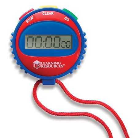 Simple Stopwatch. On your mark...get set...go! Great for races, games and other timed activities, this stopwatch is easy to use, making it perfect for both children and adults.