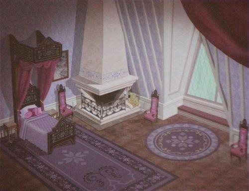 kioewen: official frozen concept art - elsa's bedroom the recent