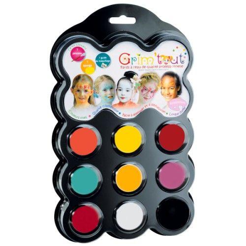 Vous trouverez dans ce kit tout le nécessaire pour réussir à coup sûr le maquillage de votre choix en suivant les exemples du guide. Ce maquillage est spécialement conçu pour convenir aux peaux délicates des enfants. Toujours dilué à l'eau, il s'applique simplement à l'aide d'une éponge ou d'un pinceau !