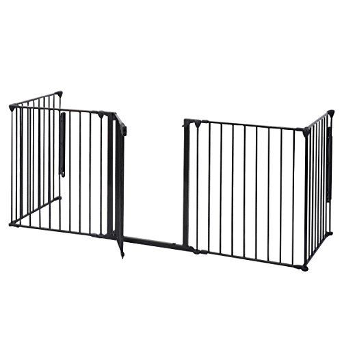 HPD Fireplace Fence Baby Safety Fence Hearth Gate BBQ Metal Fire Gate Pet Dog Cat -- Read more  at the image link.