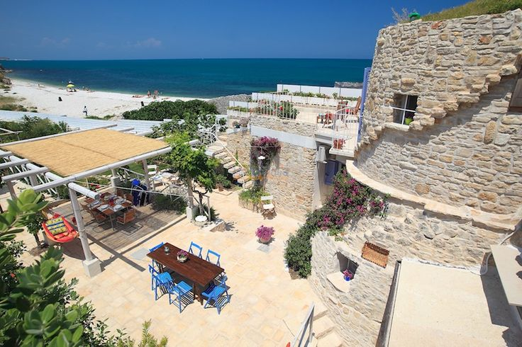 "Trulli in Puglia Sea Front! Private Beach Access Enchanting Historic Villa Amazing View ""Trullo Fiore di Mare""  See more at: http://www.helloapulia.com/en/cv089"