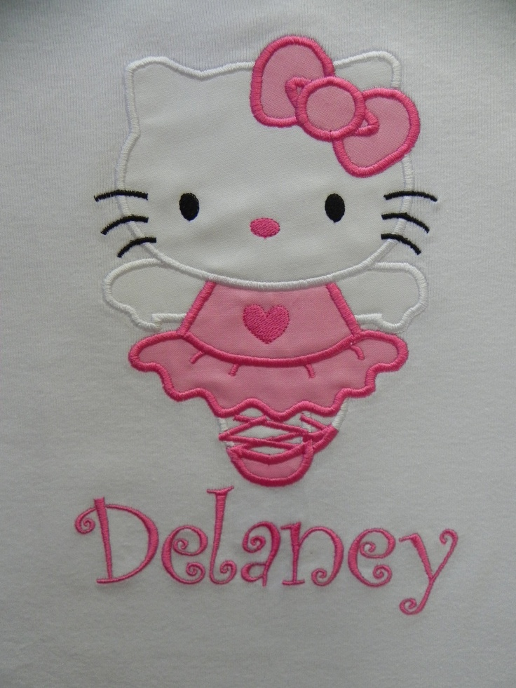 Applique Cute Ballerina Kitty Shirt by characterdesigns on Etsy, $21.00