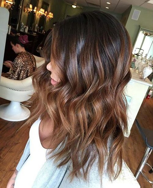 brown+ombre+highlights+for+black+hair
