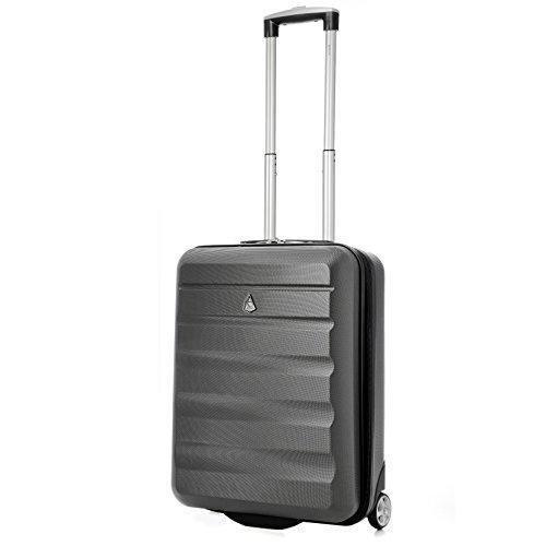 Oferta: 47.99€ Dto: -38%. Comprar Ofertas de Aerolite 55x40x20 Tamaño Máximo de Ryanair y Vueling ABS Trolley Maleta Equipaje de mano cabina ligera con 2 ruedas, Gris Osc barato. ¡Mira las ofertas!