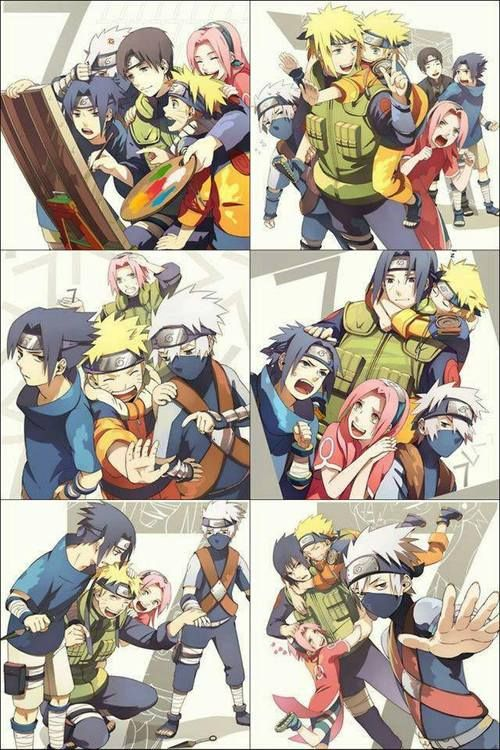 Sai, Minato, Sakura, Itachi, Naruto, Sasuke switch for team leader