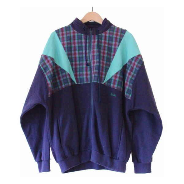 90s plaid track jacket, navy blue green jersey windbreaker, oversized... (195 DKK) ❤ liked on Polyvore featuring men's fashion, men's clothing, men's activewear, men's activewear jackets and jackets