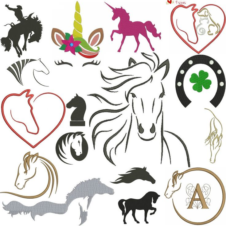 Embroidery Machine Designs horses pack unicorn set animal digital instant download pattern hoop pes file t-shirt towel designs by SvgEmbroideryDesign on Etsy