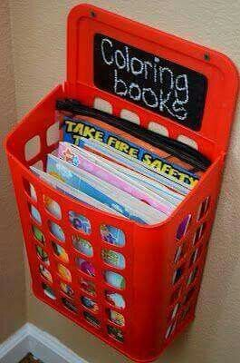 Great idea for organizing kids rooms