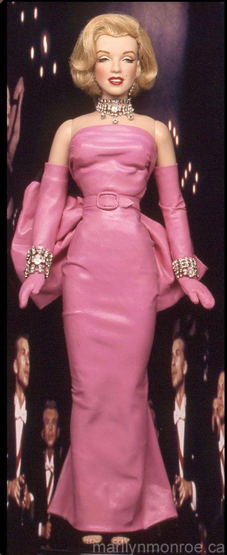 Diamonds are a Girls Best Friend:)Marilyn Monroe Custom Dolls by Kim Goodwin