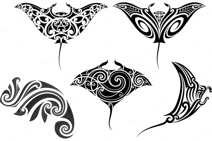 Maori tattoo patterns (5x) by Artefy's Graphic Bar on @creativemarket