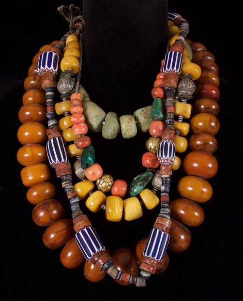 Antique African trade beads.                                                                                                                                                                                 More