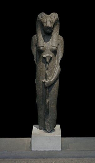 Granodiorite statue of Sekhmet, standing. 18th dynasty | The British Museum                                                                                                                                                      More