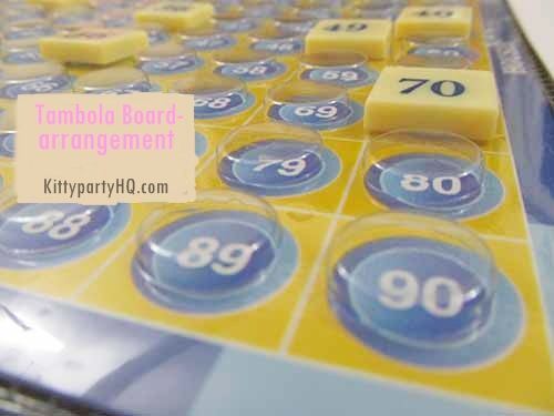 Introducing another interesting last minute kitty party game.   All you need in preparing this game is clock and housie board or tambola board!   All you need to do is arrange numbers on the housie board in one minute. Oh wait !  It's not that easy :) Pick ONLY one number at a time.