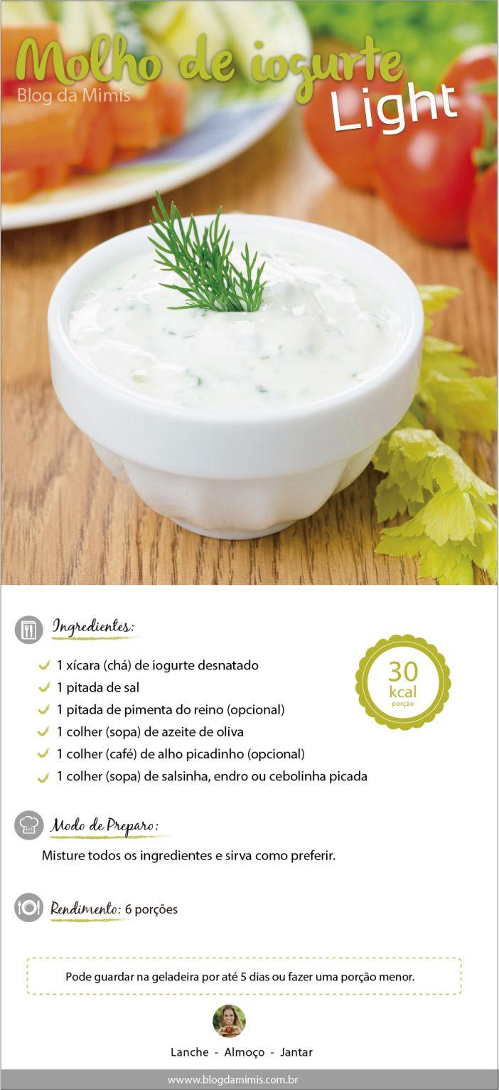 Molho de iogurte light