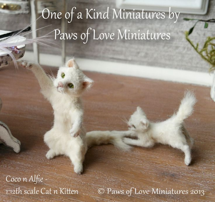 Miniature Cat and Kitten by Mary Anderson