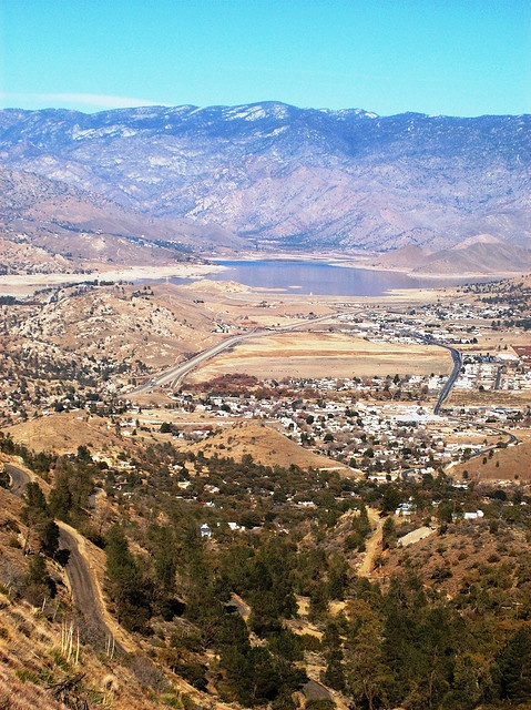 Looking down on Lake Isabella, Kern County, California by mlhradio