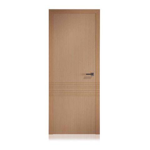 Puerta de madera de roble uniforme con acanalados en roble - Puertas de roble ...