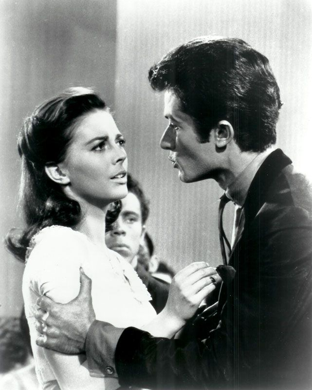 """George with Natalie Wood in """"West Side Story"""""""