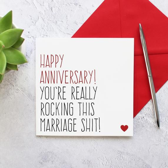 Anniversary Card For Couple Funny Wedding Anniversary Card Etsy Anniversary Cards For Couple Funny Wedding Anniversary Cards First Wedding Anniversary