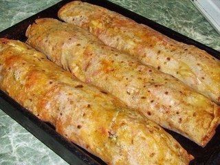Пикантный рецепт рулетиков из лаваша с мясом или колбаской! Быстро и вкусно!😉  ФАРШИРОВАННЫЙ ЛАВАШ, ЗАПЕЧЕННЫЙ В ДУХОВКЕ