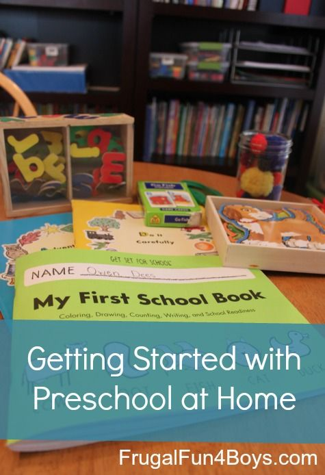 Tips for getting started with preschool at home - what to cover, what books and materials to use, what do with your day.  From a mom of five.
