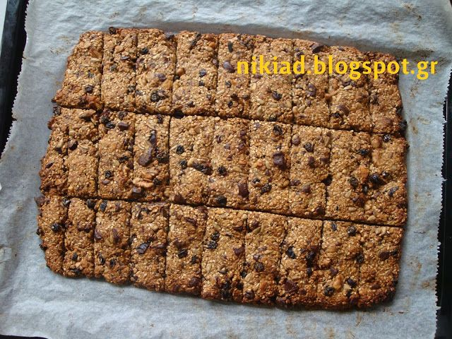 Χειροτεχνήματα: σπιτικές μπάρες δημητριακών χωρίς ζάχαρη / homemade cereal bars without sugar