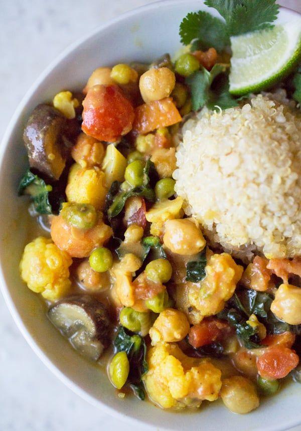 Vegan Thai Coconut Vegetable Curry Recipe Vegetable Curry Vegetable Curry Recipes Curry Recipes