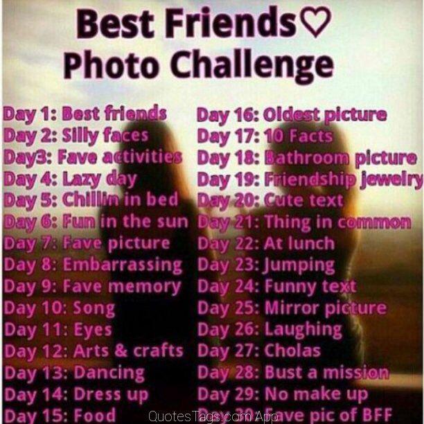 Photo challenge with best friend