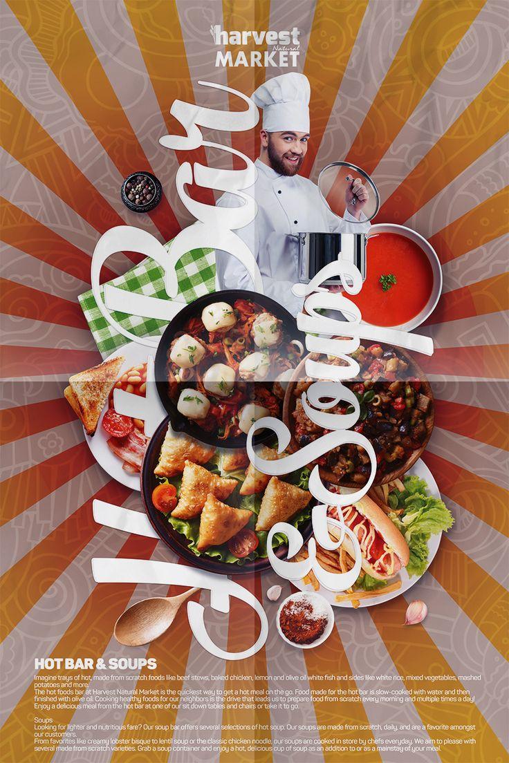 Harvest Natural Market Afiş Tasarım - Hazır Yemek Ürünleri Departmanı