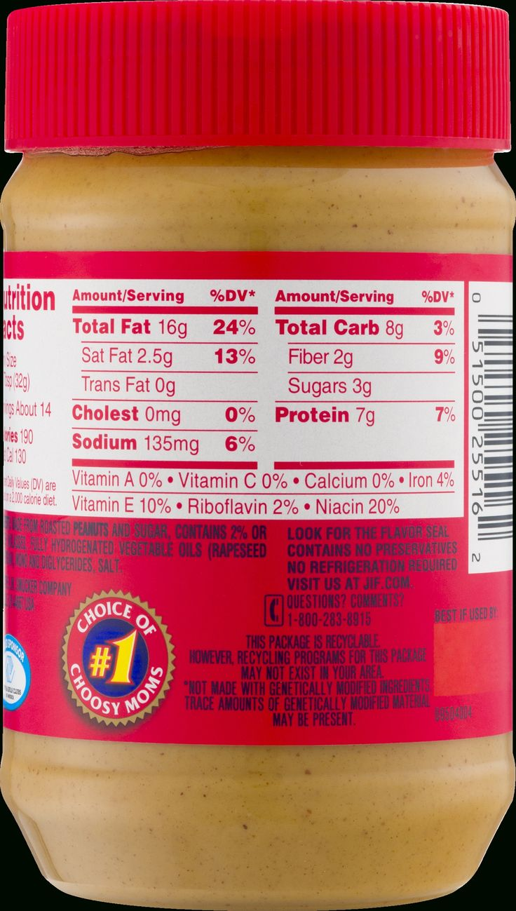 Nutrition Label For Jif Peanut Butter Nutrition Labels