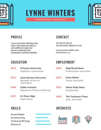28 best Infographic Resumes images on Pinterest Resume templates - examples of successful resumes