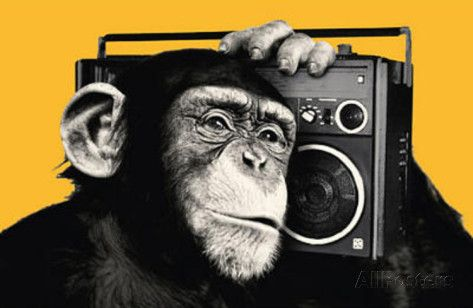 The Chimp Boombox Art Print Poster Poster na AllPosters.com.br