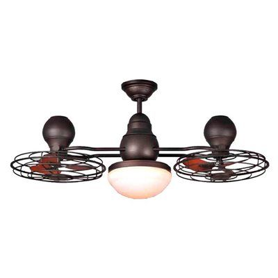 Harbor Breeze 44-in Bronze Double Headed Ceiling Fan with Light