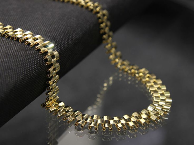 """14k Gold Plated 12mm Hip Hop Style Chain Necklace 30"""" Inches wrist band necklace"""