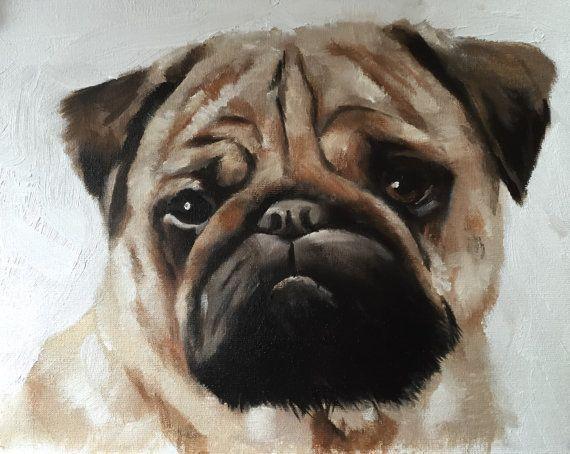 Pug Dog Painting Pug Dog Art Pug Dog Print Pug Art Etsymktgtool