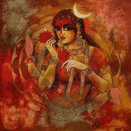 Woman With Srichakra 1 Artwork