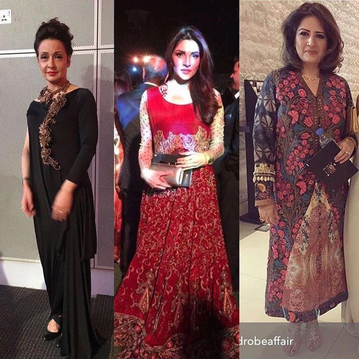 Zeba Bakhtiar Zhalay Sarhadi & Atiqa odho wow in a #ShamaeelAnsari outfit last night at ARY Awards in Dubai. #Celebrities #WomenPower #Dubai #AFA16 #ShamaeelAnsari #hellopakistan  atiqa odhos pic via @awardrobeaffair by hellopakistan