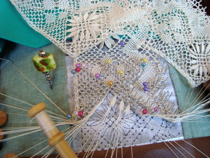 current bobbin lace project