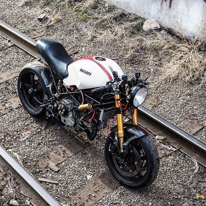 What a Monster! 2006 #Ducati #S2R800 by @yorkstmoto now with #S2R1000 motor. Shot by @eparrillaphotos. #caferacer #ducatimonster #s2r