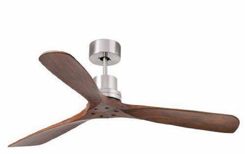 Ventilateur de plafond Lorefar Lantau Faro 33370Nickel mat avec 3sombres en bois de noyer flà ¼ geln 132cm diamètre avec télécommande 3…