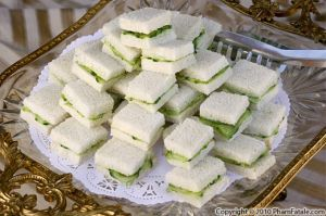 "I had a cucumber sandwich for the first time last Thanksgiving at my church. It was SO good! (Basic one: White bread+cucumber slices+cream cheese) ""Cucumber sandwiches are the most delicious, easiest finger foods to make."" -- Jacqueline Pham"