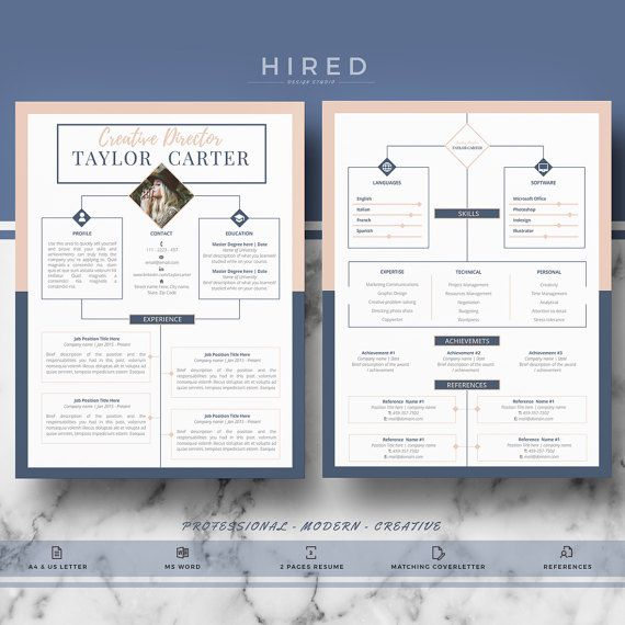 The 83 best Modern, Professional  Elegant Resume Templates images