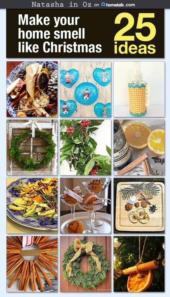 25 Ways To Make Your Home Smell Like #Christmas #holidays #potpourri #hometalk