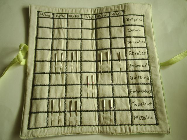 FREE Needle Organizer chart available for download.  http://daleannepotter.com/needle-organizer-chart/