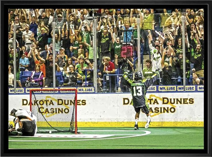 """""""The Goal"""" 24X35 Framed Canvas Limited Edition of 99"""