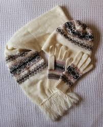 Shetland Fair Isle Pattern Hat, Gloves and scarf - Knitting creation by tartan   Knit.Community