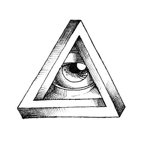 Impossible Triangle Eye Tattoo Design